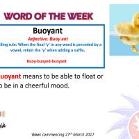 Word of the week 27.3.17